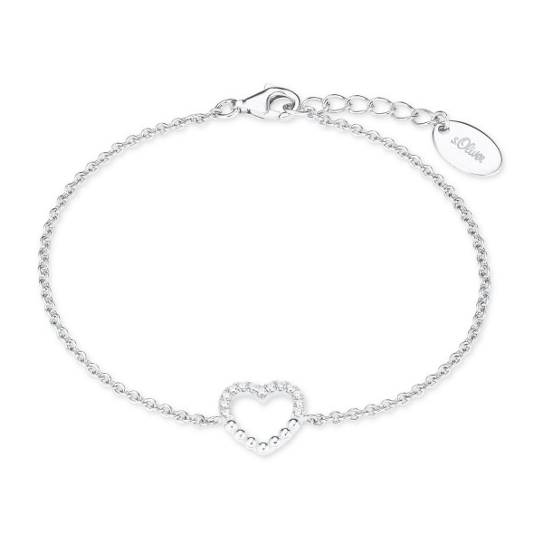 s.Oliver Damen Armband 2022752 Herz Silber