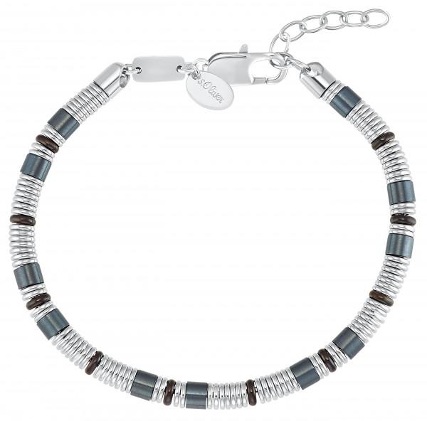 s.Oliver Herren Armband 2031525 Edelstahl bicolor blau