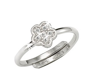 Scout Ring 263012100 Blume Zirkonia Silber 925