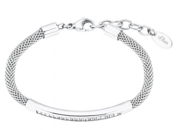 s.Oliver Damen Armband 2027583 Edelstahl mit Swarovski®