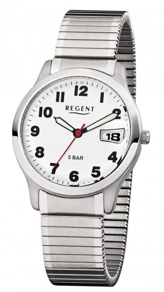 Regent Herren Armbanduhr 1753.44.99 F-897 Edelstahl Zugband