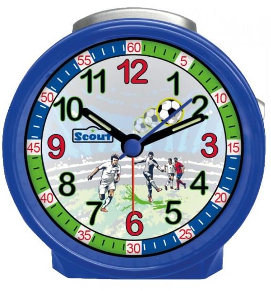 Scout Kinder Wecker 280001033 FRIENDS Fußball blau