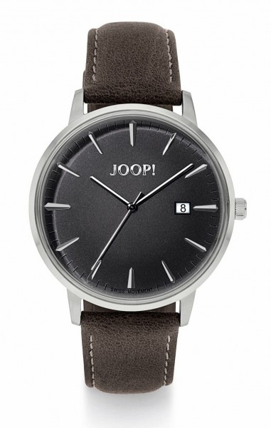 JOOP! Herren Armbanduhr 2022844 Edelstahl Lederband braun