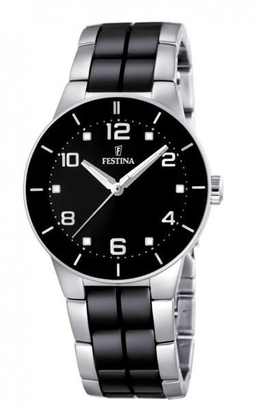 Festina Damen Armbanduhr F16531/2 Ceramic schwarz