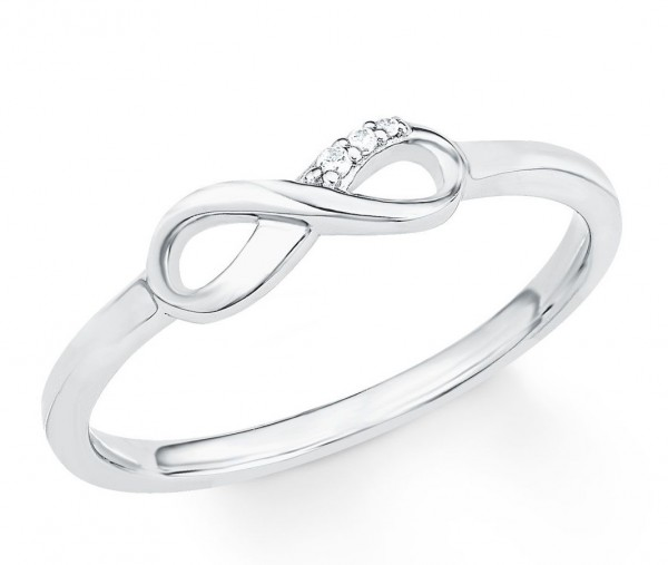 s.Oliver Damen Ring Infinity 2017248 Zirkonia Silber SO PURE