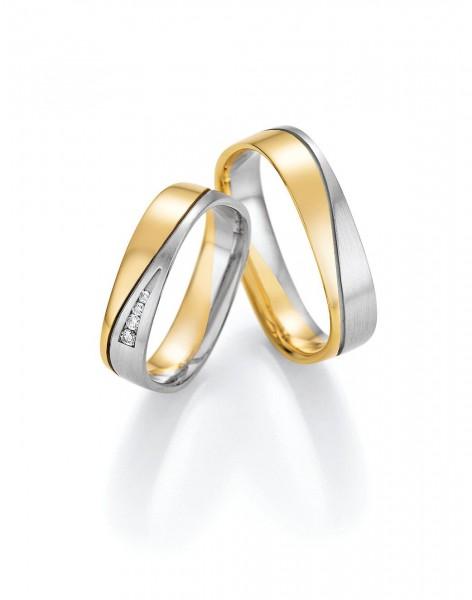 Eheringe Trauringe Solid VI 66/46030 66/46040 Weißgold Gelbgold