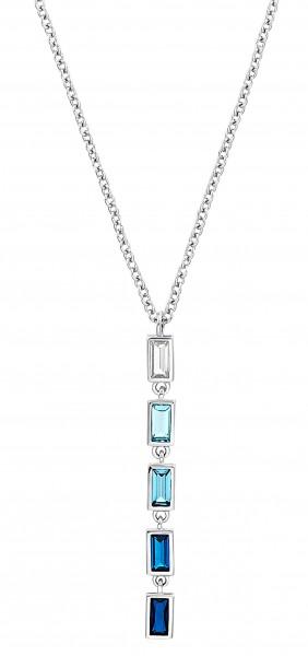 s.Oliver Damen Y-Collier 2031402 Silber Zirkonia blau