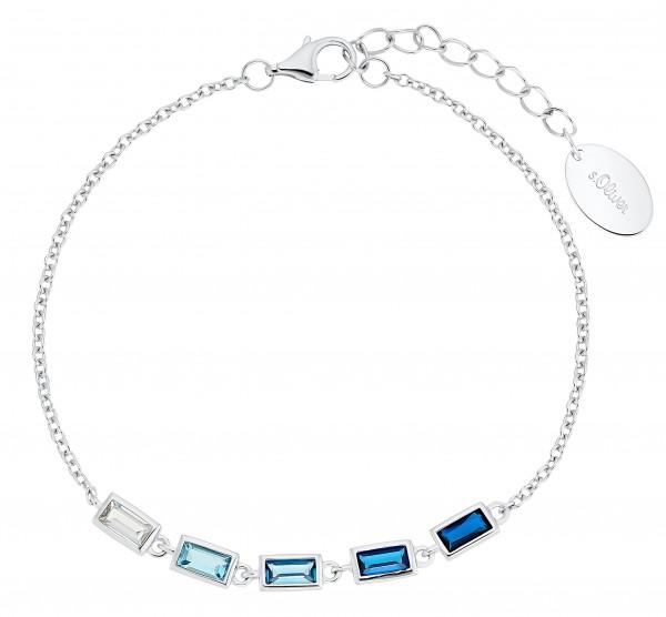 s.Oliver Damen Armband 2031408 Silber Zirkonia blau