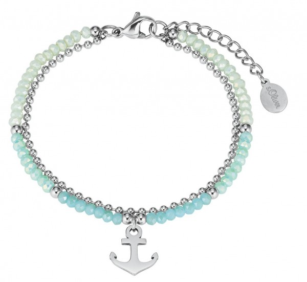 s.Oliver Damen Armband 2027599 Glassteine Edelstahl