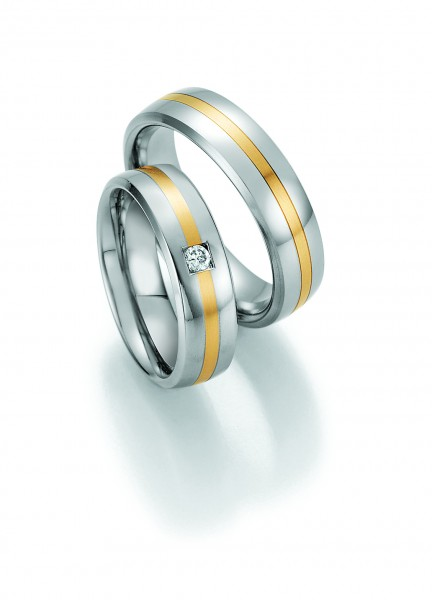 Trauringe 88/60110-88/60120 Steel & Gold Sensation