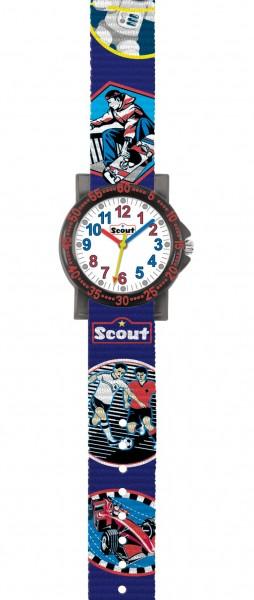 Scout Kinder Armbanduhr The IT-Collection 280375018 Skater, Astronaut, Fussballer, Rennauto