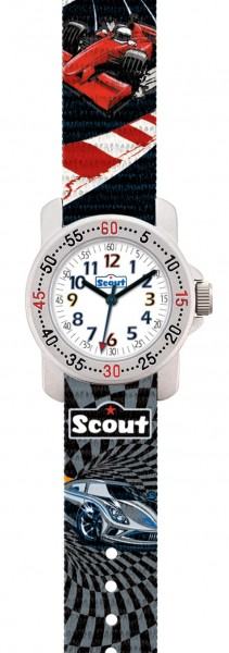 Scout Kinder Armbanduhr 280376008 Action Boys 'Red Racer' 'Power Car'