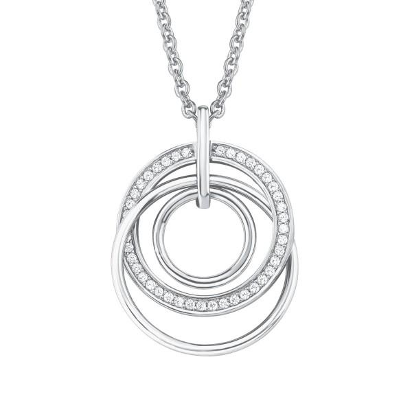 s.Oliver Damen Halskette 2015123 Silber Zirkonia