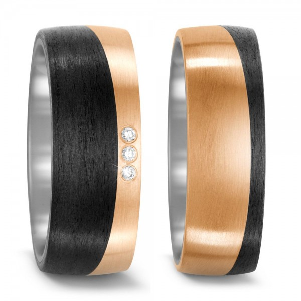 Eheringe Trauringe Titan Bronze Carbon 52533
