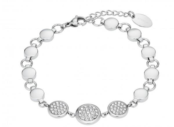 s.Oliver Damen Armband 2026174 Edelstahl mit Swarovski® Kristallen