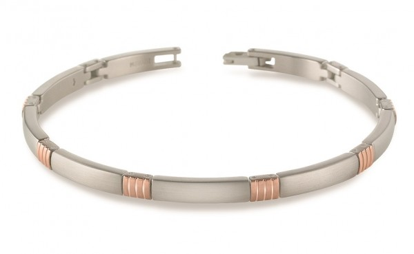 Boccia Damen Armband 03002-03 Titan Rosegold IP