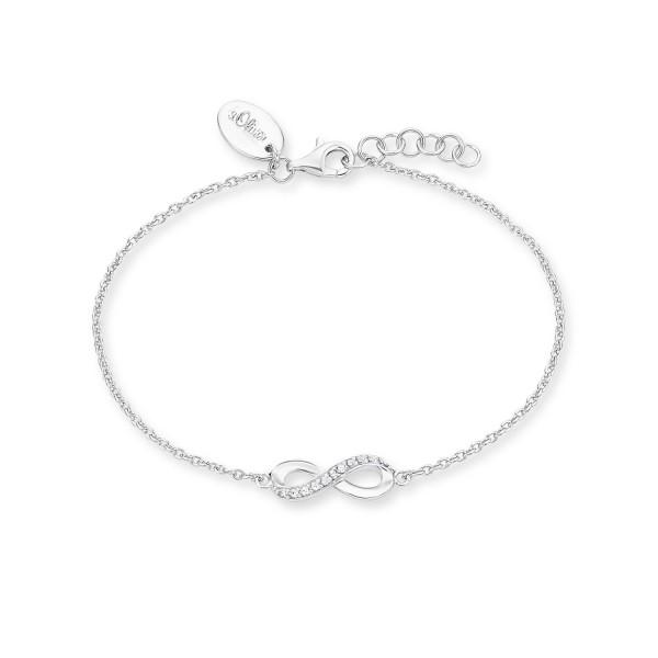 s.Oliver Damen Armband 2012529 Infinity Silber