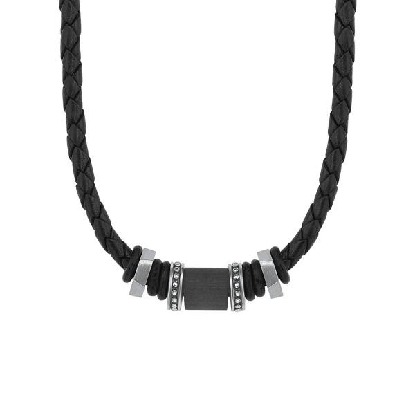 s.Oliver 2015067 Halskette Leder/Edelstahl