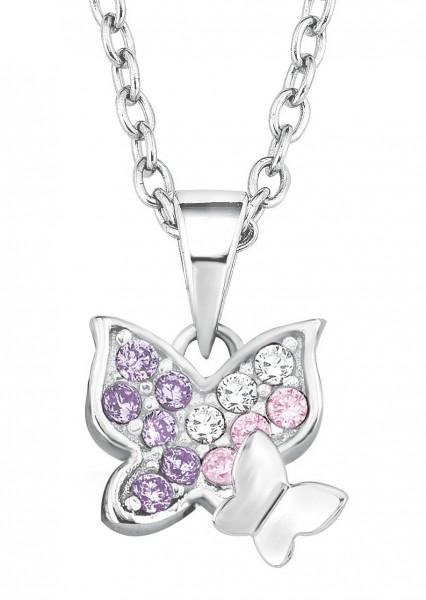 Lillifee Mädchen Halskette 2021103 Schmetterling Silber Zirkonia