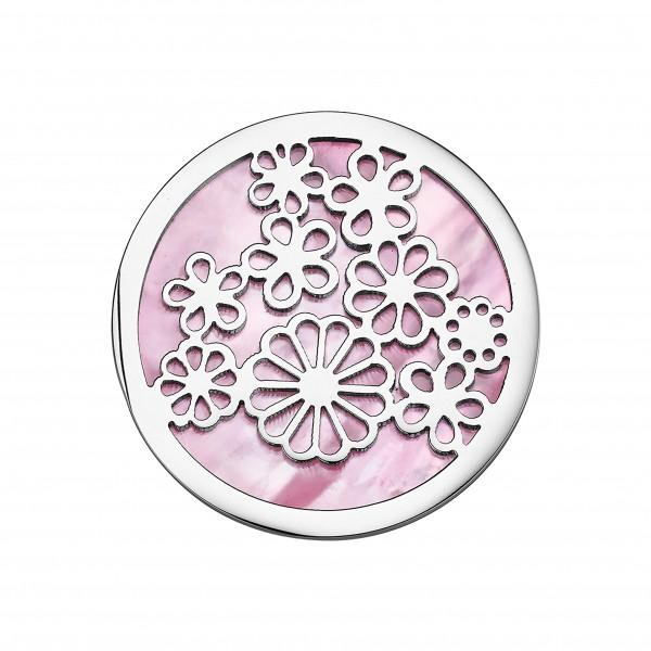 CEM Coins CS317/CS318 Anhänger Blumen Perlmutt rose