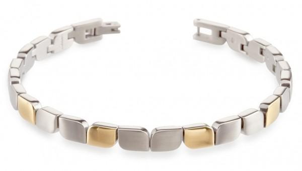 Boccia Damen Armband 03007-02 Titan teil-gelbgoldplattiert