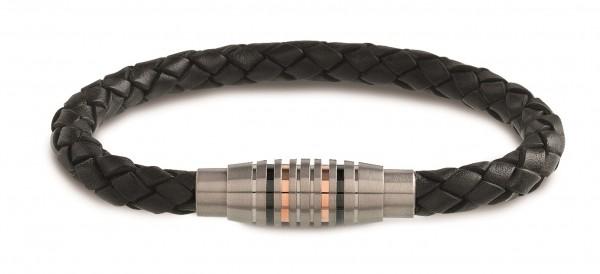 Boccia Herren Armband 03003-0221 Leder Titan
