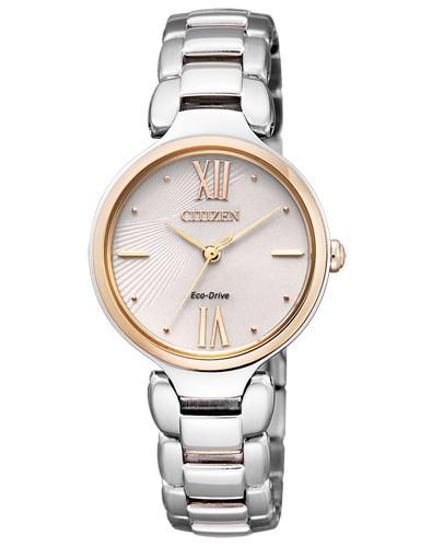 Damen-Armbanduhr Eco Drive EM0024-51W Elegant