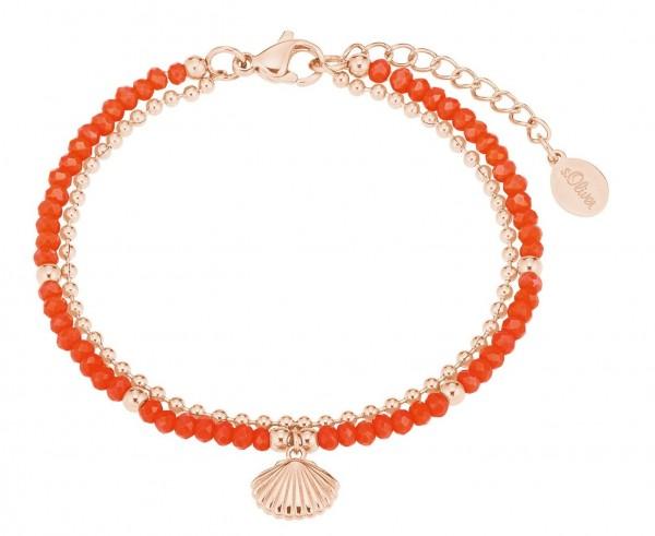 s.Oliver Damen Armband 2027600 Glassteine Edelstahl rosegold IP