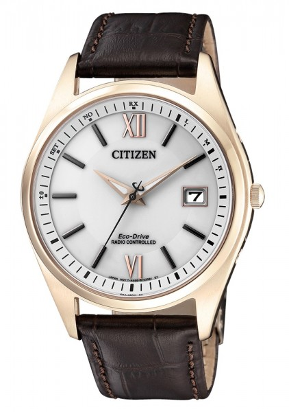 Citizen Herren Armbanduhr AS2053-11A Funk Eco-Drive