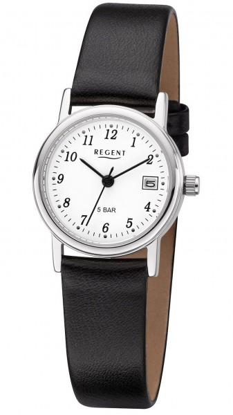 Regent Damen Armbanduhr 7610.40.19 F-827 Edelstahl Lederband