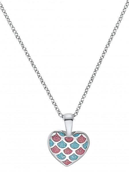 Lillifee Mädchen Halskette 2031156 Herz Silber Emaille pink blau