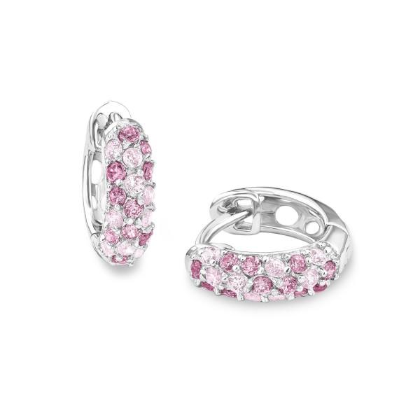 Lillifee 2016523 Creolen Silber rosa pink
