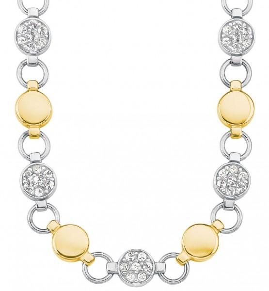 s.Oliver Damen Halskette 2026171 Edelstahl mit Swarovski® Kristallen