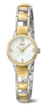 Boccia Damen Armbanduhr 3277-02 Dress bicolor