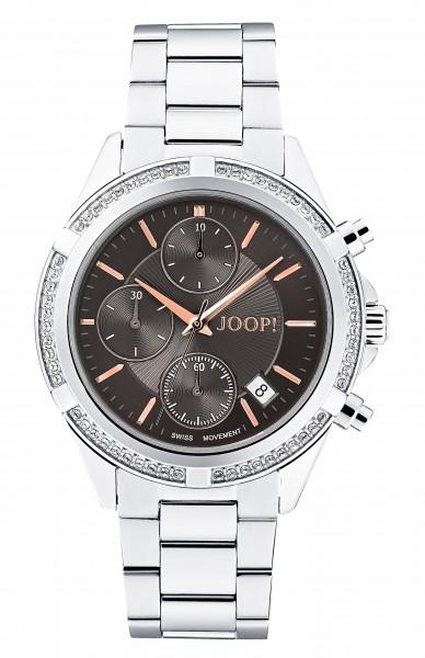 JOOP! Damen Armbanduhr 2030891 Chronograph Edelstahl Zirkonia