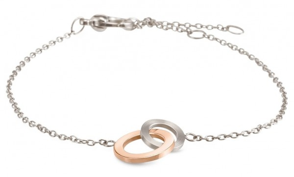 Boccia Damen Armband 03029-02 Titan teil-roségoldplattiert