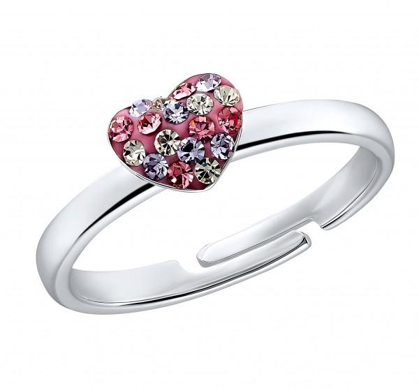 Prinzessin Lillifee Ring 2031168 Herz Silber Zirkonia rosa