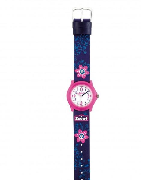 Scout Mädchen-Armbanduhr Crystal 280305028 blau pink Flowery