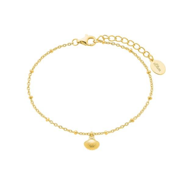 s.Oliver Damen Armband SO PURE 2026120 Muschel Silber vergoldet