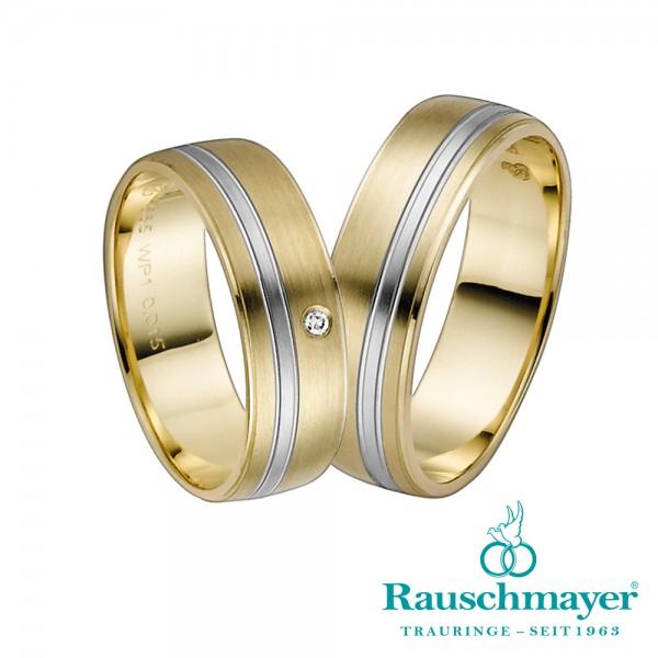 Trauringe 10-11-50839 Gelbgold/Weißgold