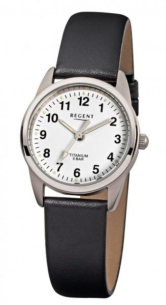 Regent Damen Armbanduhr 7170.90.19 F-441 Titan Lederband