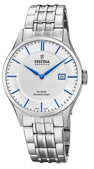 """Festina Herren Armbanduhr F20005/2 """"Swiss Made"""""""