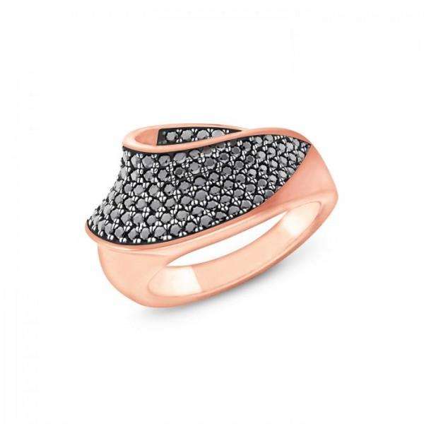 JOOP! Damen Ring 2023501 Zirkonia Silber rosevergoldet