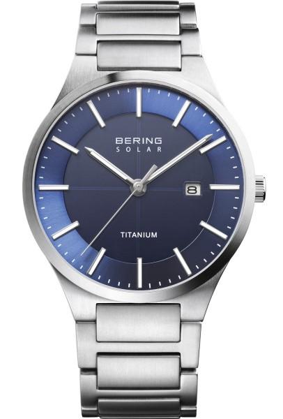 Bering Herren Armbanduhr 15239-777 Slim Solar Titan