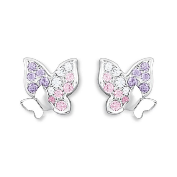 Lillifee Mädchen Ohrstecker 2021063 Schmetterling Silber 925