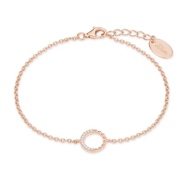 s.Oliver Damen Armband 2022753 Kreis Silber rose