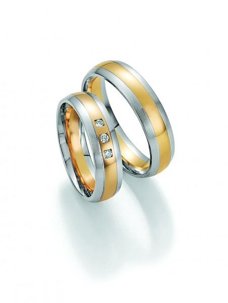 Eheringe Trauringe Solid II 66/34150 66/34160 Weißgold Gelbgold