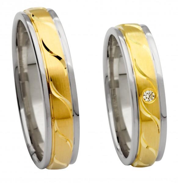 Eheringe Trauringe 514635 Gelbgold Weißgold Kühnel