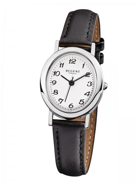 Regent Damen Armbanduhr F-580 Edelstahl Lederband