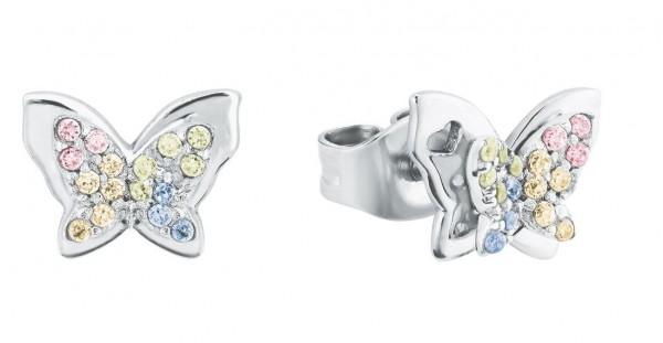 Lillifee Mädchen Ohrstecker 2027901 Schmetterling Zirkonia Silber 925